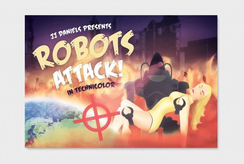 ROBOTS ATTACK! In technicolor